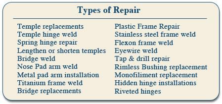 Glasses Frame Repair Atlanta : Eyewear Repair Express ~ Eyeglass Repair